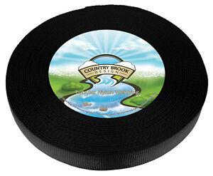 Country Brook Design® 1 Inch Black Tubular Nylon Webbing, 20 Yards