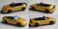 Motormax - Porsche 911 Turbo Cabrio gelbmet. 1:43 Modellauto