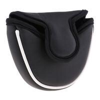 Soft PU Heel Shaft Golf Semicircle Mallet Putter Cover Head Cover Black