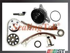 Fit 00-08 Toyota 1.8L 1ZZFE Engine Timing Chain Kit VVT Gear Solenoid Water Pump