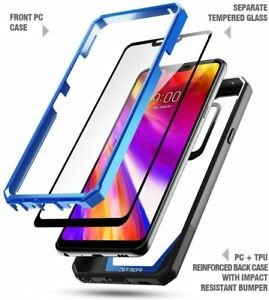 Poetic Shockproof Case For LG G7 ThinQ / LG G7 Cover with Screen Protector Blue