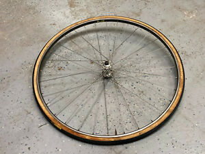 Galli front hub 100mm laced to Martano 32 hole tubular rim bearings spin smooth
