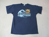 Sublime Concert Shirt Adult Large Blue Yellow Ska Punk Rock Music Tour Mens