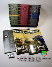 First Strike Warhammer 40K Starter Set - Books Ruler Dice Game Mat - NO MODELS