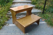 """16.5"""" tall Handcrafted Safety Step Stool Solid Wood, Bedroom Bedside Kitchen 20"""""""