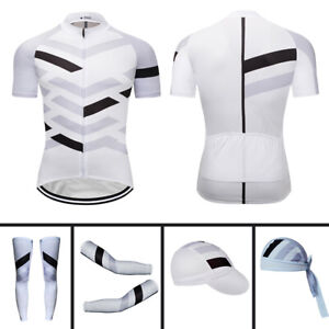 New Men's Cycling Jersey Short Sleeve Cycling Cap Arm Sleeve Leg Warmers Bandana