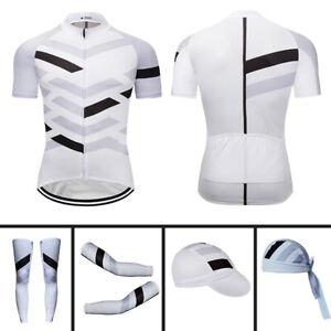 New Men's Cycling Jersey Short Sleeve Cycling Cap Arm Sleeve Leg Warmers Bandana