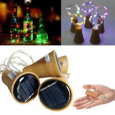 1/2/5 x 2M Solar Kork Weinflasche Stopper Kupferdraht String Lichter Feen Lampen