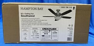Southwind 52 in. LED Indoor Brushed Nickel Ceiling Fan w/ Light Kit and Remote