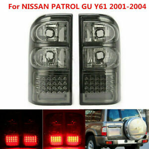 Left Right Side Smoked LED Rear Tail Light Fits for Nissan Patrol GU Y61 01-04