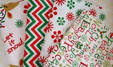 Bundle of 4 100% Cotton Christmas Fat Quarters Peace Love Joy Merry & Bright
