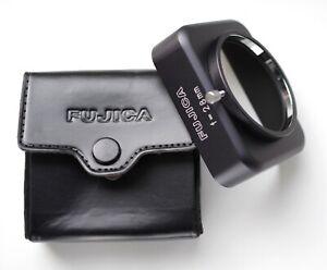 FUJICA f = 28 mm (Square lens hood) + case