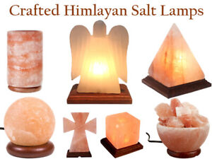 Gleam Natural Himalayan Crafted Pink Salt Lamp100% Pure With Blub And Plug