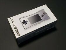 Nintendo Game Boy Micro silver console Boxed Universal Handheld System US Seller