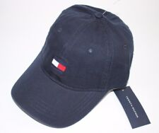 NWT TOMMY HILFIGER One Size Men s Navy Embroidered LOGO Baseball Hat 2075f4207294