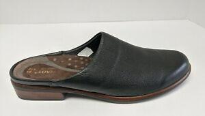 Naot Lodos Mules, Black Leather, Women's 43 EU (US 12)