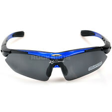 RockBros Polarized Cycling Glasses Sports Sunglasses Outdoor Goggles Blue