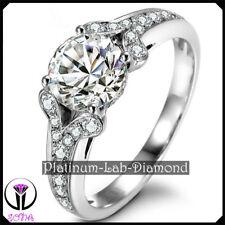 1.00Ct Luxury SONA Lab Diamond Solid Platinum PT950 VVS1 Engagement Ring TIFFANY