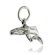 Humpback Whale Charm - 925 Sterling Silver - Large Fish Mammal Ocean Baleen New
