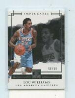 LOU WILLIAMS  2017-18 Panini Impeccable Basketball Base Card #D /99 Clippers