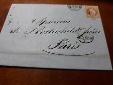 Napoléon III 40 c - N°31YT 20/01/1863 +Napoléon III 20 c - N°29 YT 21/03/1870
