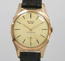 Vintage Benrus F125 Shock Absorber 32mm Swiss Manual Wind 10K Gold Plated Watch