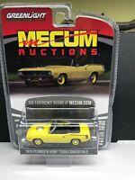 1:64 Greenlight Mecum Auctions Series 5 - 1970 Plymouth Hemi Cuda Convertible