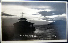 MEXICO ~ 1900's LAGO CHAPALA ~ Fishing Pier ~ Boats ~ Real Photo PC  RPPC