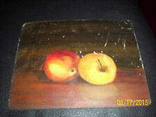 lee townsend old painting still life  apples old rare signed l townsend