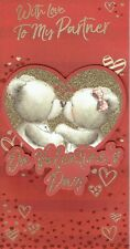 PARTNER - Quality VALENTINE'S DAY CARD - Valentines Bears in Heart Design