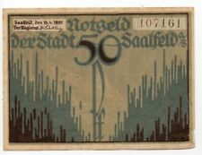 Duitsland / Germany - notgeld - Saalfeld - 50 Pfennig