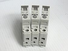 (3) Allen Bradley Circuit Breaker 1492-Cb1 G100 Ser C 1 Pole 1P 10 Amp A 10A 2Hp