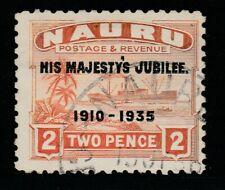 Nauru 1935 2d Orange Jubilee Sg 41 Fu