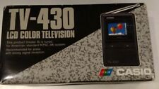 Casio TV-430 LCD Color Handheld Portable Television with original box - Vintage