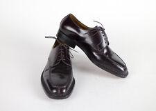 New SUTOR MANTELLASSI Burgundy Purple Leather Oxfords Shoes Size 7 US/40 EU $895