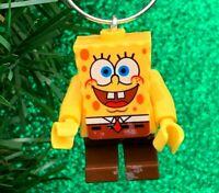 Spongebob Squarepants Figure Minifigure Custom Lego Christmas Tree Ornament OOAK