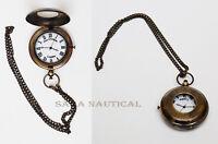Marine Antique Nautical Geo.Graham London Brass Pocket Push Watch