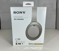 Sony - Wh-1000Xm4 Wireless Noise-Cancelling Over-the-Ear Headphones - Silver
