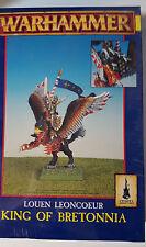 GW Warhammer Bretonnian King Louen Leoncoeur 1996 - METAL SEALED BOX RARE OOP