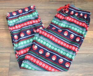 Jamies for your Families Ugly Christmas Sweater Style Fleece PJ Bottoms Lounge