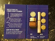 """ESTEE LAUDER """"LIGHT UP YOUR EYES IN 3-MINUTES"""" SAMPLE CARD"""