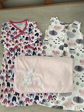 Jojo Maman Bebe Girl Sleepy Sac Sleeping Bags Bundle & Peppa Blanket Age 0-3 b2