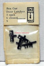 Grandt Line~O-Scale/On3/1:48~5~Box Car Door Latches, 3 Open & 6 Closed~MIB~OOP