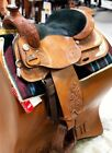 """Reinsman 16"""" Pleasure Show Saddle – Tooling & Silver  Pre-Owned – Good Condition"""