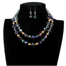 2a74db15b8d8 Moda Mujer Suéter Gargantilla de Cristal Colgante De Cadena Gruesa Babero  Collar Aretes
