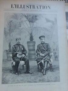 1897 Rey Siam Rama V Chulokarlong 6 Periódicos