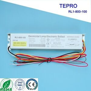 RL1-800-100 TEPRO 0.5A 220-240V 40-100W Germicidal UV Lamp Electronic Ballast