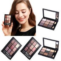 9 Colors Eye Shadow Makeup Cosmetic Shimmer Matte Eyeshadow Palette & Brush