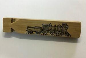 Vintage Tibadee Timbercraft Tasmania Hancock Steam Train Whistle Celery Top Pine