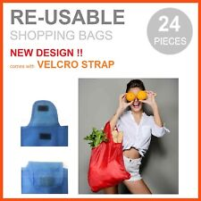 24 x FOLDABLE WATERPROOF Reusable Shopping Storage Bags Handbags Grocery Bag